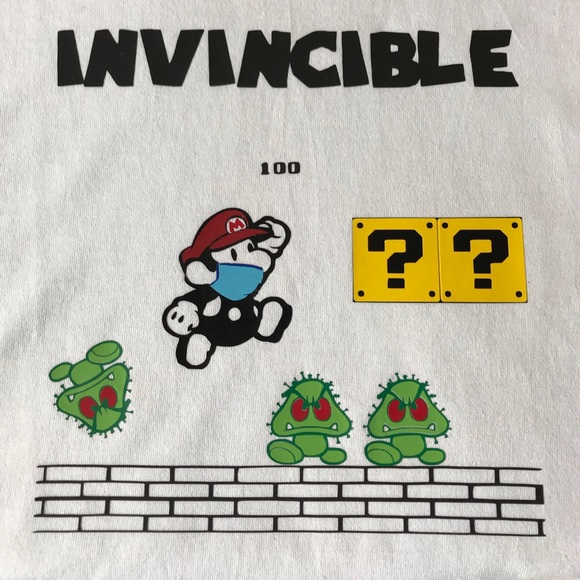 INVINCIBLE MARIO BRO - KIDS GRAPHIC TEE